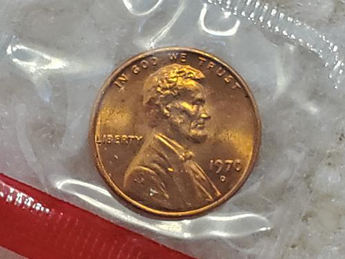1970 D Penny Wrapped