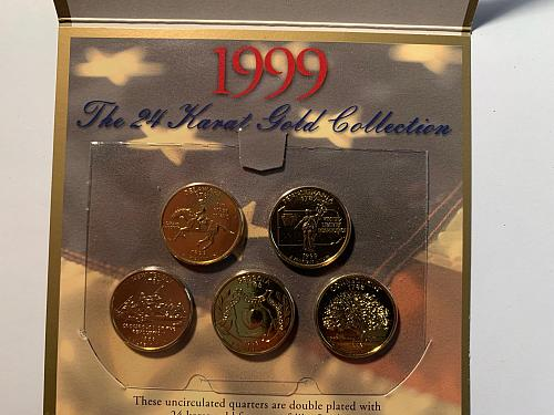 1999-2003 State Quarters Collection- 24 Karat Gold Collection