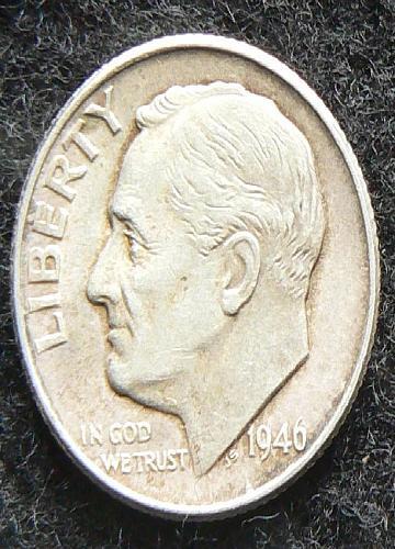 1946 P Roosevelt Dime (EF-40)