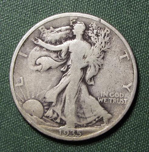 1935P Walking Liberty Half Dollar