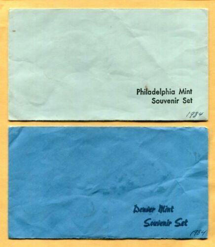 U.S.MINT 1984 - P&D Uncirculated SOUVENIR Sets w/Envelope