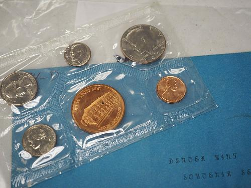 1974 Denver MINT SOUVENIR SET COINS AND ENVELOPE