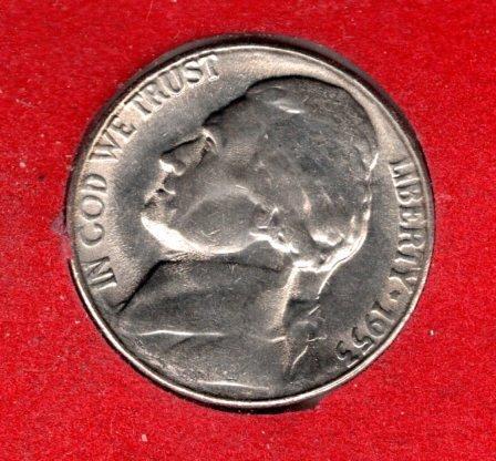 1953 S Jefferson Nickels -#3