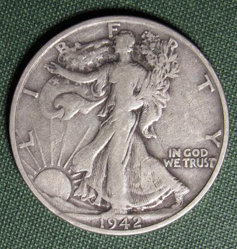 1942S Walking Liberty Half Dollar