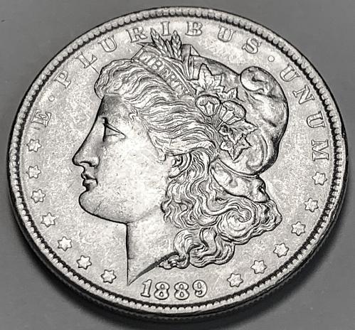 1889 Morgan Silver Dollar UNC [MDL 389]