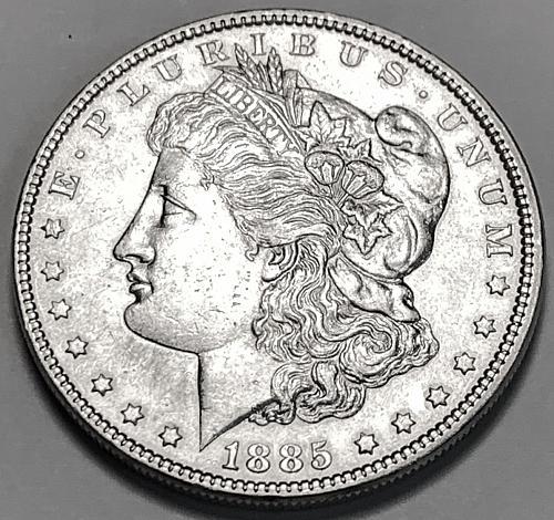 1885 Morgan Silver Dollar UNC [MDL 390]