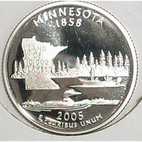 2005-S Clad Proof Minnesota State Quarter PF65DC #0419