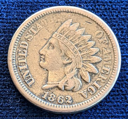 1862 VERY FINE COPPER NICKEL INDIAN CENT
