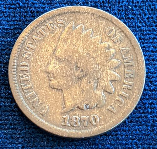 1870 GOOD INDIAN CENT