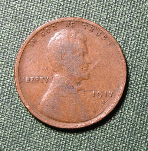 1917D Wheat Back Lincoln Cent