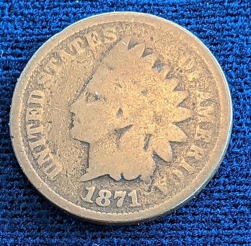 1871 GOOD INDIAN CENT