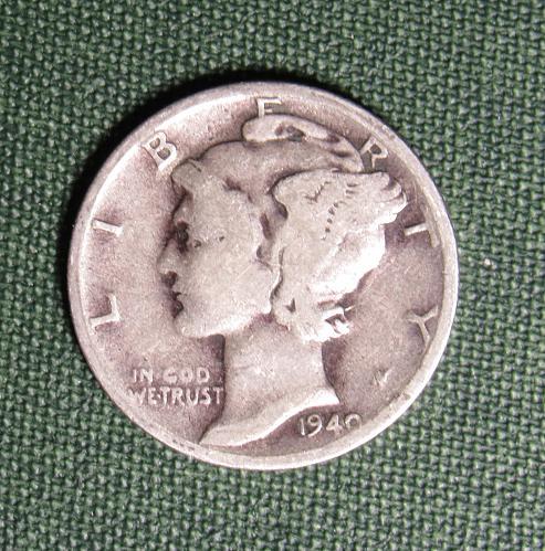 1940S Mercury Silver Dime