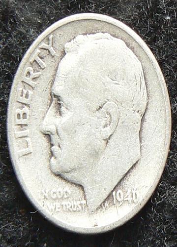 1946 D Roosevelt Dime (G-4)