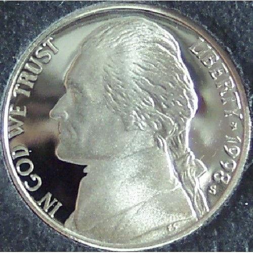 1998-S DCAM Proof Jefferson Nickel #0448