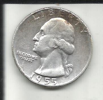 1955  D   WASHINGTON QUARTER