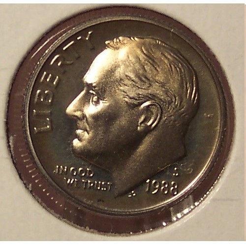 1988-S DCAM Proof Roosevelt Dime PF65 #0468