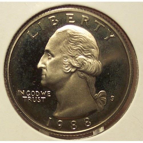 1988-S Proof DCAM Washington Quarter PF65 #0469