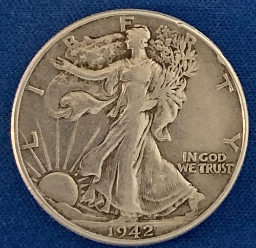 1942 P Walking Liberty Half Dollar F4206