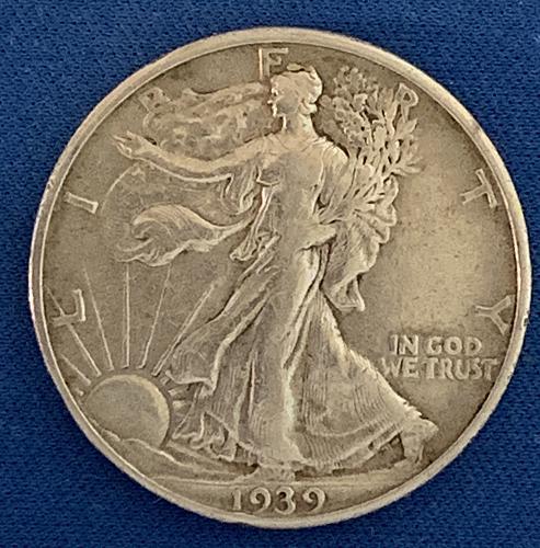 1939-P Walking Liberty Half Dollar Very nice coin F3904