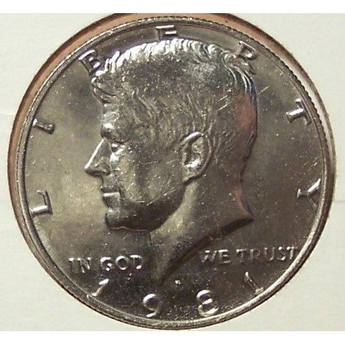 1981-P Kennedy Half Dollar BU #0473