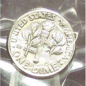 1981-P Roosevelt Dime BU In the Cello FULL BANDS #0475