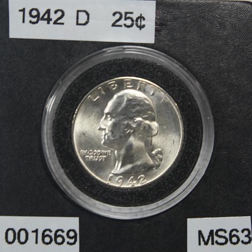 1942 D Washington Quarter