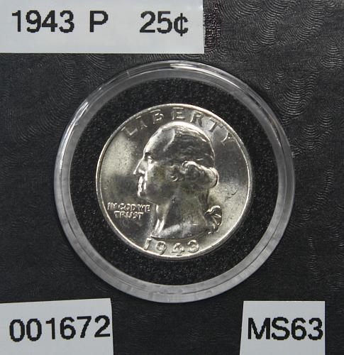 1943 P Washington Quarter