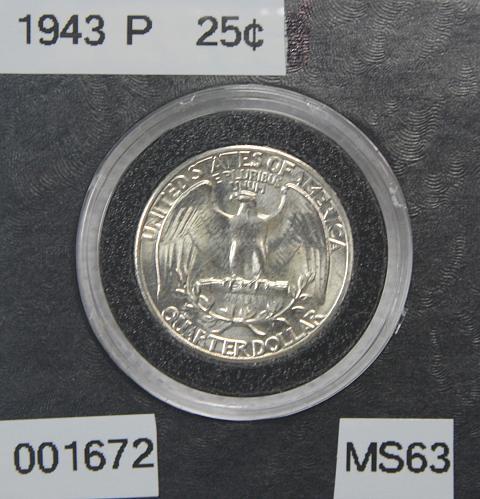 1943 P Washington Quarter
