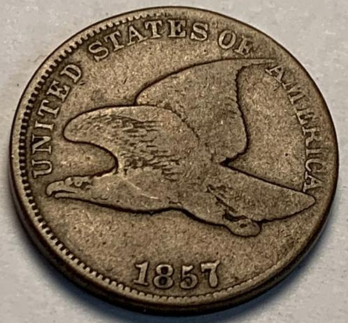 1857 Flying Eagle Cent VG Variety [FE 14]