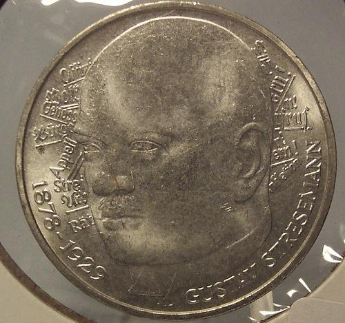 KM# 147 1978-D Silver West German 5 Mark Gustav Stresmann #0496