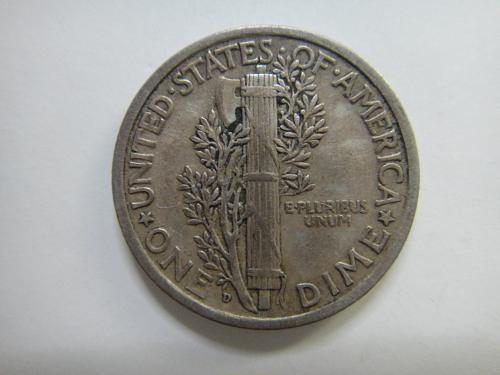 1926-D Mercury Dime Extra Fine-40- Very Nice Definition With Some Marks
