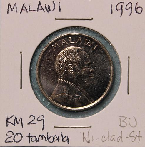Malawi 1996 20 tambala