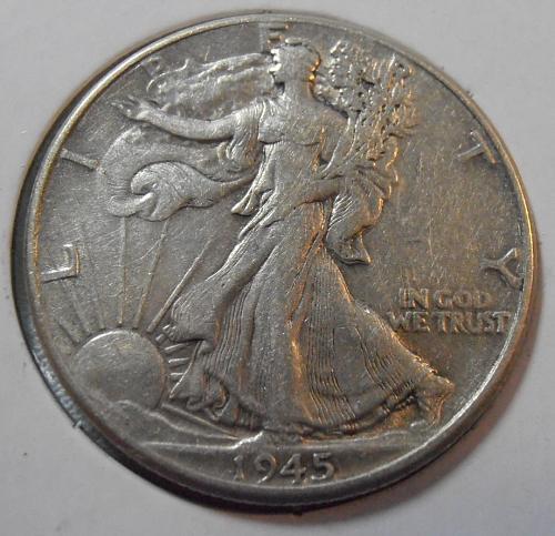 1945 P Walking Liberty Half Dollar (45POP1)