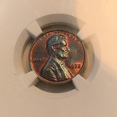 1972 Doubled Die Obverse Lincoln Memorial Cent MS63 BN NGC Slabbed