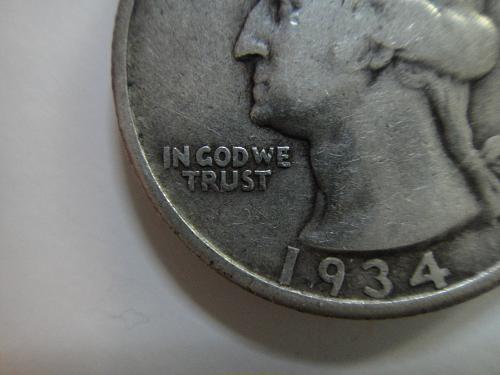 1934 Medium Motto Washington Quarter Fine-15