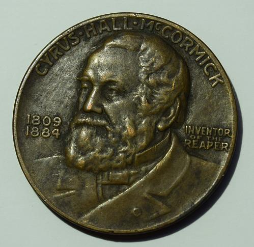 1931 Cyrus McCormick - International Harvester Centennial of the Reaper Medal