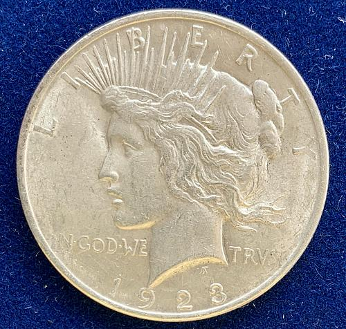 1923 P Peace Silver Dollar lovely coin. Nice Luster