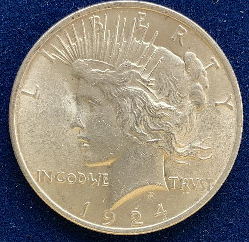 1924 P Peace Silver Dollar Very nice coin for your collection