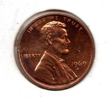 1969 S Lincoln Memorial Cent Small Cents -#5