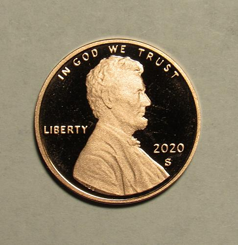 2020 S Proof Lincoln Shield Cent