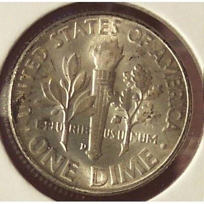 1947-D Roosevelt Silver Dime GEM BU #0550