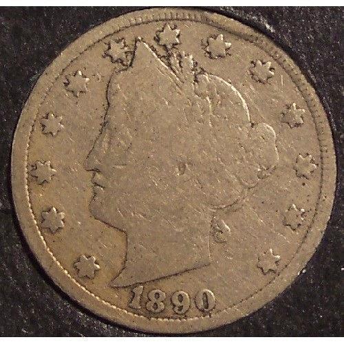 1890 Liberty Head Nickel VG #0552