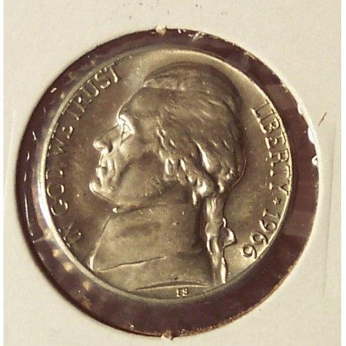 1966 Jefferson Nickel BU #0556