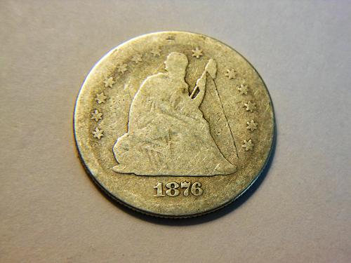 1876-S Silver Seated Liberty Quarter