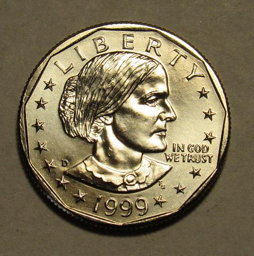 1999 D Susan B Anthony Dollar in BU condition