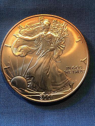 American Eagle $1 Silver 2001