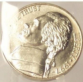 1997-P Jefferson Nickel BU FULL STEPS In the Cello #0578