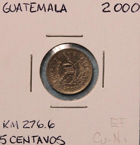 Guatemala 2000 5 centavos