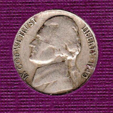 1940 D Jefferson Nickels -#5