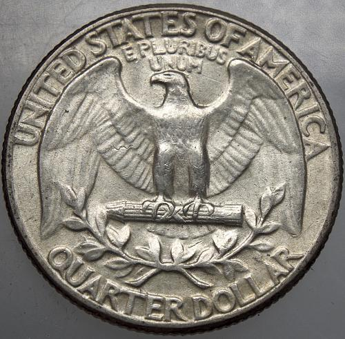 1957 P Washington Quarter #12
